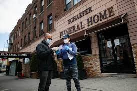 surreal ny funeral homes struggle as