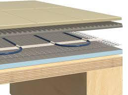 underfloor heating heating mat suspended wooden floor