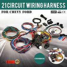 21 circuit ez wiring harness chevy universal extra ford install ebay universal wiring harness diagram at Universal Ford Wiring Harness