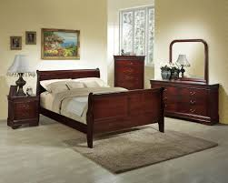 Louis Philippe Bedroom Furniture Louis Philippe Queen Cherry Bedroom Set By Lifestyle Furniture