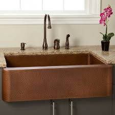33 fiona hammered copper farmhouse sink