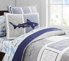 Shark Frenzy Quilt, Twin | Pottery Barn Kids & Shark Frenzy Quilt, Twin Adamdwight.com
