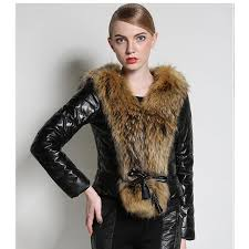 zadorin 2018 fashion office lady slim faux fur coat plus size women leather jacket autumn winter