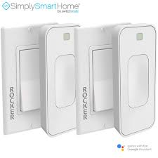 Simply Smart Light Switch 2 Pack Simplysmarthome Motion Activated Instant Smart Light Switch Rocker That Listens 3 White Renewed