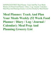 Download Free Meal Planner Track And Plan Your Meals Weekly