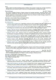 Financial Resume Examples Amazing Resume Sample For Finance
