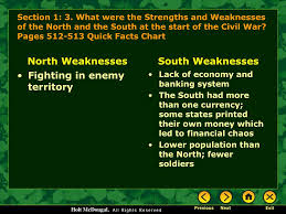 Civil War Strengths And Weaknesses Chart Ppt The Civil War Powerpoint Presentation Free Download