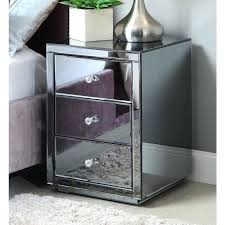 next mirrored furniture. Glass Bedroom Furniture Side Tables Smoke Mirrored Bedside Table Chest Mirror Next White .