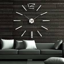 d mirror  inch modern wall clock room home decor diy bell cool