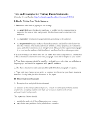 argumentative thesis statement examples   Template