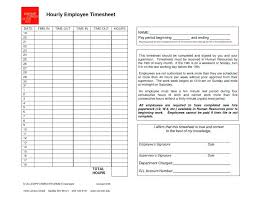 Weekly Time Sheets Template Employee Generic Hourly