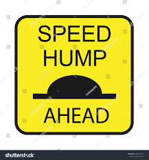 Speed Hump Design Speed Hump Sign Public Road Glyph Stock Vector Royalty Free