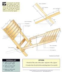 #1572 Folding Chair Plans - Outdoor Furniture Plans and Projects