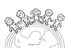 Kleurplaat Kinderen Van Deze Aarde Gratis Kleurpaginas Om Te
