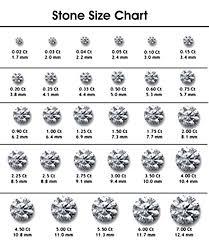 Stone Size Chart Diamond Sizes Cute Engagement Rings Diamond