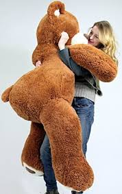 5 Foot Very Big Smiling Teddy Bear Five Feet Tall Caramel Color with