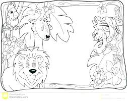 animals printable coloring pages desert animal jungle free colouring cute