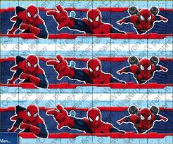 Spider Man Cake Strips Licensed Edible Cake Topper 8387 From Decopac