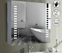 back lit mirror with demister shaver socket