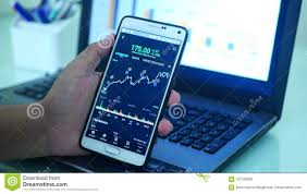 Forex Trading Graph Stock Photo Image Of Stock Market