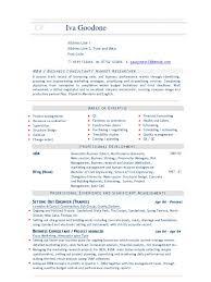 Business Consultant Cv Resume Sample Strategic Management