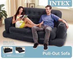 intex inflatable furniture. Elegant Intex Inflatable Pull Out Sofa Queen Bed Mattress Sleeper Furniture O