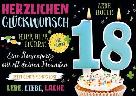Endlich 18 Birthday Cards 18ter Geburtstag 18 Geburtstag