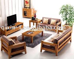 living room table sets sofa modern wooden sets for living room with cushions simple wooden