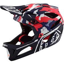 Troy Lee Design Troy Lee Designs Stage Tactical Mips Helmet Red White Blue