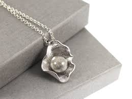 sterling silver fillable glass pearl in shell memorial cremation ashes necklace keepsake memory of loved memorial jewellery urn necklace