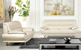 ivory leather sofa set cream