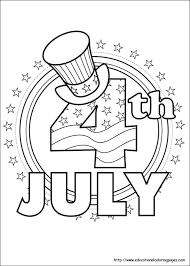 Small Picture 4th of July Coloring Pages Educational Fun Kids Coloring Pages