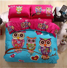 Cartoon Owl Print 3pcs/4pcs Bedding sets100% cotton for kids(duvet ... & Cartoon Owl Print 3pcs/4pcs Bedding sets100% cotton for kids(duvet cover+bed  sheet+pillowcase)king queen double twin-in Bedding Sets from Home & Garden  on ... Adamdwight.com