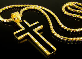 details about 1 57 cross pendant 28 chain 18k gold plate men onyx mens necklace hiphop 93bl