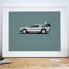 posters for office. Back To The Future Delorean Office Art Print Poster Posters For S