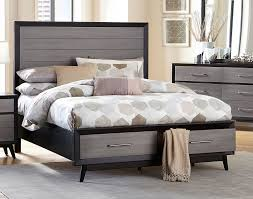 raku storage platform bed barnwood grey
