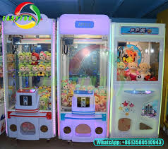 Game Vending Machines Enchanting Kids Coin Operated Game Machine Toy Crane Claw Machine Claw Crane