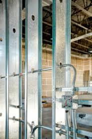 interior metal framing. Metal Stud Framing Used In Office Building Interior Metal
