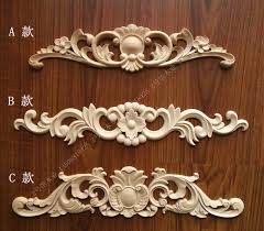 wood furniture door. Wood Carving Wooden European-style Decals Engraved Flower Furniture Door Cabinet Decorative Chip Carved