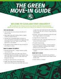 how many flyers should i put in a university green move in guide cleveland state university