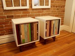 diy mdf furniture. Repurposed End Tables Found Scraps, Walnut, White Lacquered MDF Diy Mdf Furniture