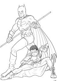 Free Printable Batman Coloring Pages For Kids Within And Robin