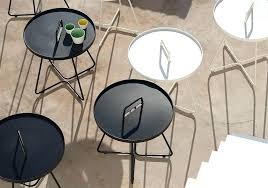 lovely patio side table metal for image patio side table paint black metal garden coffee colorful
