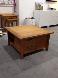laura ashley milton solid oak coffee table in olney