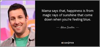 Waterboy Quotes Interesting Adam Sandler Quote Mama Says That Happiness Is From Magic Rays Of