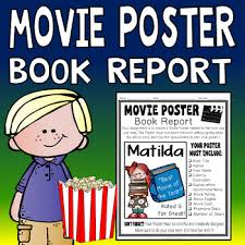 Book Report Poster Template Movie Poster Book Report Template Students Love This Movie