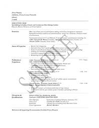 Chef Resume Example Cover Letter Sample