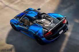 porsche 918 spyder blue. 2015 blue and black porsche 918 spyder u2013 oct 24