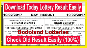 How To Download Bodoland Lottery Today Result & Old Result - Bodoland  Lotteries | State lottery, Lottery results, Lottery
