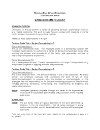 Cosmetologist Job Description Resume Cosmetologist Job Description Resume Job 1